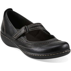 Clarks Mary Jane Leather Shoes